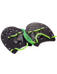 Лопатки для плавания, MadWave Paddles PRO, Black/Green (p. L)